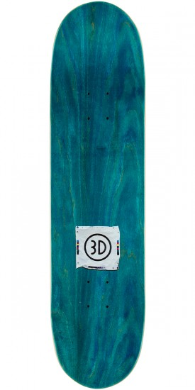 3D Gillette Stains Skateboard Deck - 8.125""