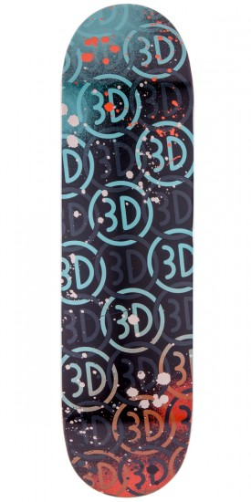 3D Logo Spray Skateboard Deck - 8.5""