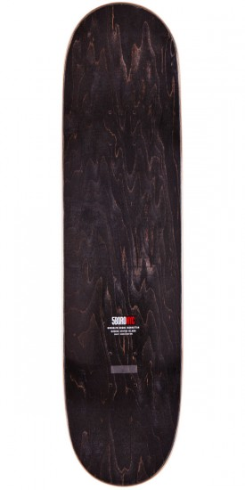 5boro 1996 Letterpress Logo Skateboard Complete - Black/Red