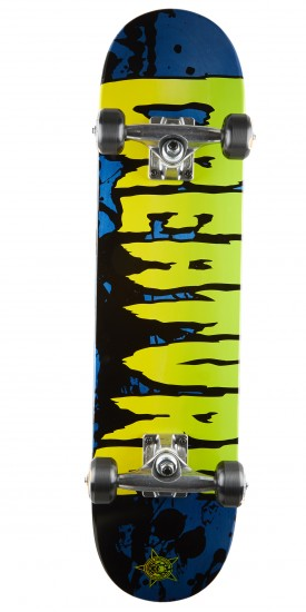 Creature Stained Blue Mini Skateboard Complete - 7.00""