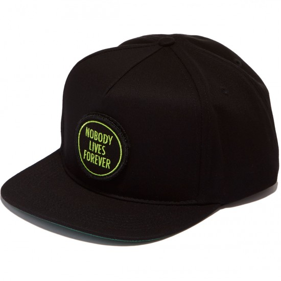 Creature Nobody Snapback Hat - Black