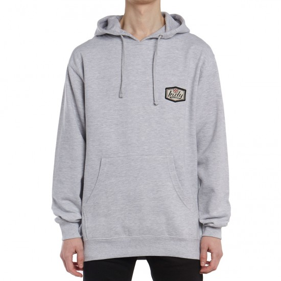 Independent Indy Patch Pullover Hoodie - Grey Heather