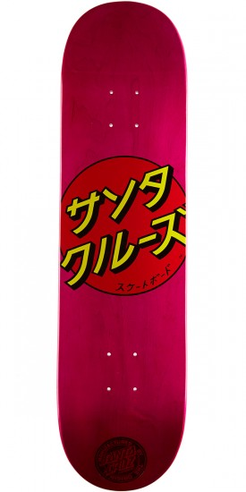 Santa Cruz Japan Dot Team Skateboard Deck - Pink - 8.0