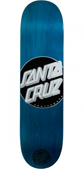 Santa Cruz Classic Dot Cyan Team Skateboard Deck - 8.0