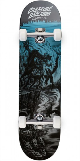 Creature Gravette Back to the Badlands Pro Skateboard Complete - 8.25