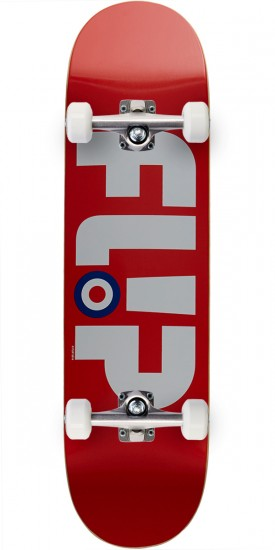 Flip Team Modyssey Logo Team Skateboard Complete - Red - 8.13