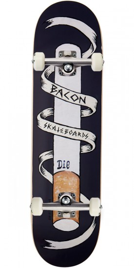 Bacon Die Smoking Skateboard Complete - 8.25""