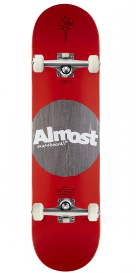 Almost Noble Dot R7 Skateboard Complete - Red - 8.0""