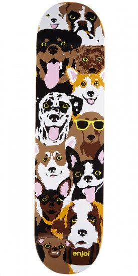 Enjoi Dog Collage R7 Skateboard Deck - 7.75""
