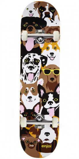 Enjoi Dog Collage R7 Skateboard Complete - 7.75""