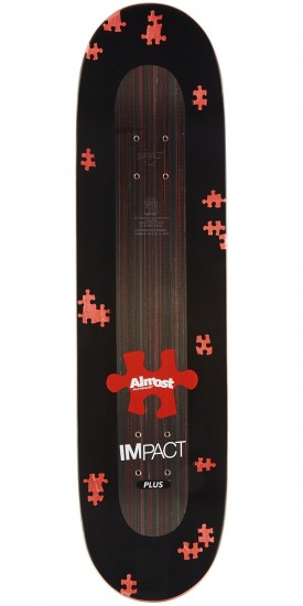 Almost Fluff Puzzle Impact Plus Skateboard Complete - Willow - 8.375""