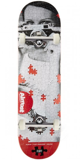 """Almost Fluff Puzzle Impact Plus Skateboard Complete - Willow - 8.375"""""""