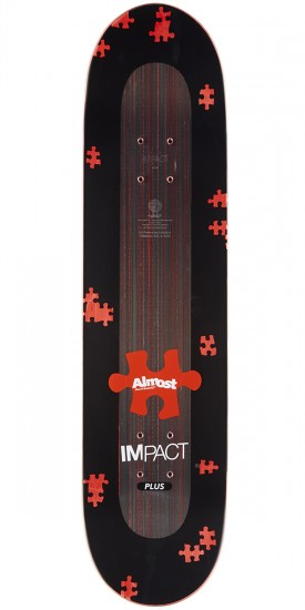 Almost Fluff Puzzle Impact Plus Skateboard Complete - Daewon Song - 8.0""