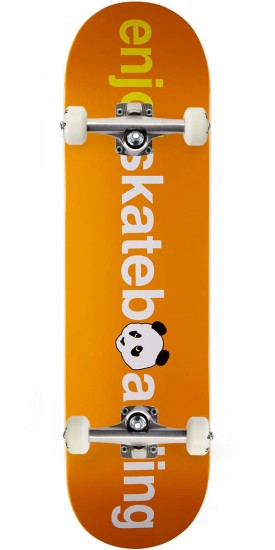 Enjoi No Brainer V2 HYB Skateboard Complete - Orange - 8.25