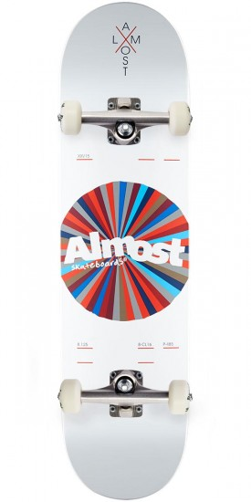 Almost Noble Color Wheel R7 Skateboard Complete - White - 8.125