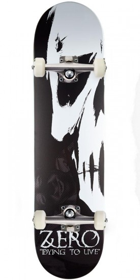 Zero Dying To Live R7 Skateboard Complete - Black/White - 8.0