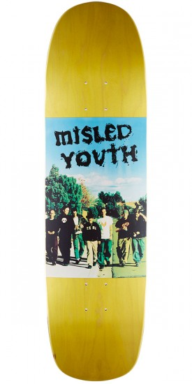 Zero Misled Youth Photo R7 Skateboard Deck - Yellow - 8.5