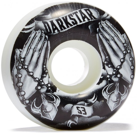 Darkstar Salvation Skateboard Wheels - Black/White - 53