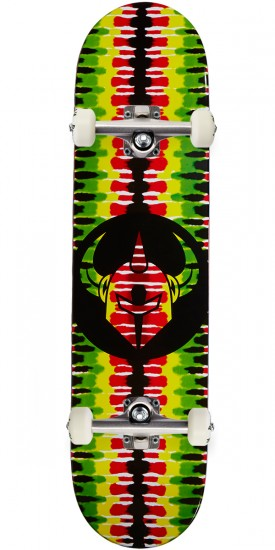 Darkstar Badge RHM Skateboard Complete - Rasta - 7.75