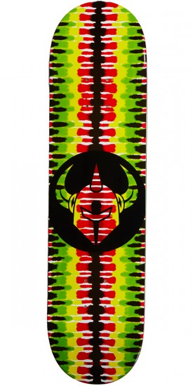 Darkstar Badge RHM Skateboard Deck - Rasta - 8.0