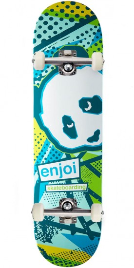 Enjoi 1985 Called R7 Skateboard Complete - Blue/Yellow - 8.0