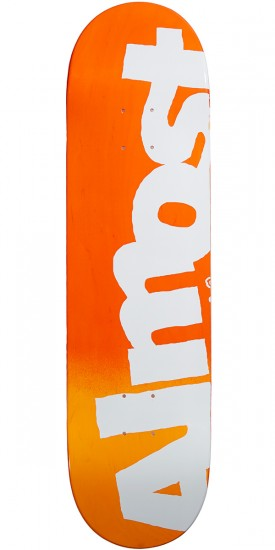Almost Side Pipe Hybrid Skateboard Deck - Red Fade - 8.25