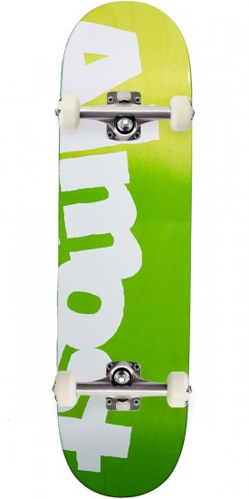 Almost Side Pipe Hybrid Skateboard Complete - Green Fade - 8.5