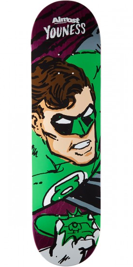 Almost Sketchy Green Lantern R7 Skateboard Deck - Youness Amrani - 8.125