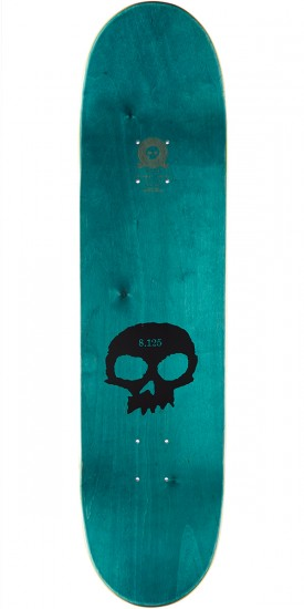 Zero Single Skull K/O Hybrid Skateboard Complete - Black/Pink - 8.125