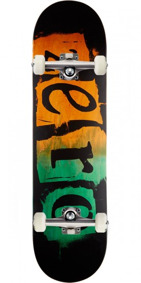 Zero Punk R7 Skateboard Complete - Orange/Green - 8.25