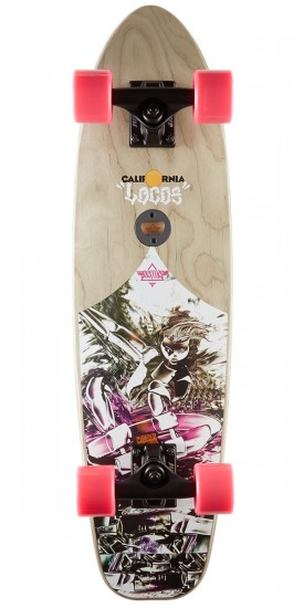 "Dusters Locos Wisdom 29"" Skateboard Cruiser Complete - Pink"