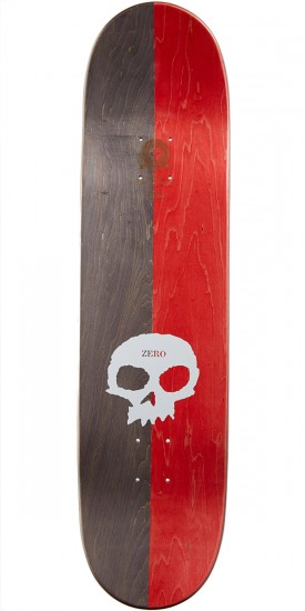 Zero Split Single Skull Skateboard Complete - Red/Black - 8.125""
