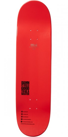 Blind Bombshells Hybrid Skateboard Deck - Red - 8.5