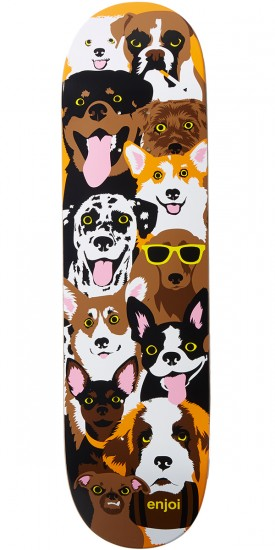 Enjoi Dog Collage R7 Skateboard Deck - Brown - 8.375