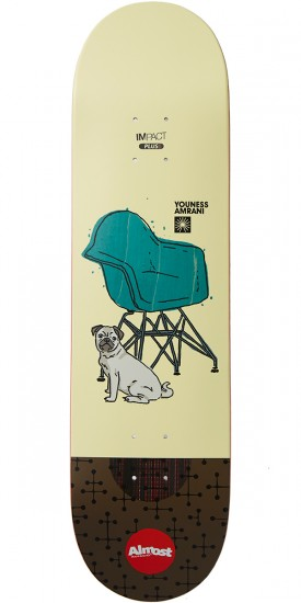Almost Modern Sitters Impact Plus Skateboard Deck - Youness Amrani - 8.25