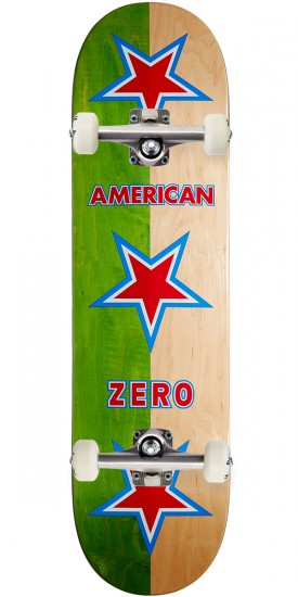 Zero New American Zero R7 Skateboard Complete - Green/Natural - 8.375