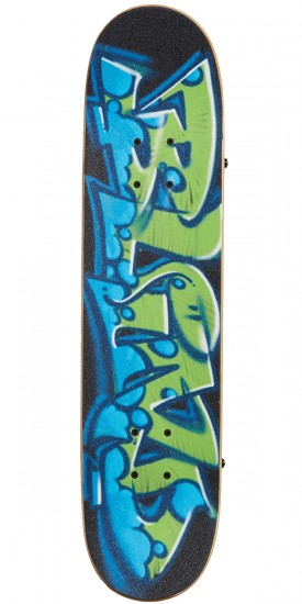 Blind Spray Wall Premium Youth Skateboard Complete - Green/Blue - 7