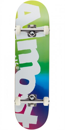 Almost Side Pipe Blurry Hybrid Skateboard Complete - Green/Blue/Pink - 8.25