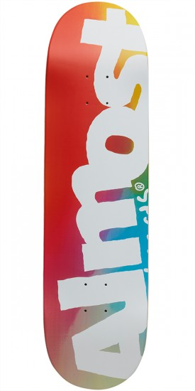 Almost Side Pipe Blurry Hybrid Skateboard Deck - Blue/Red/Yellow - 8.5