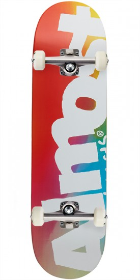 Almost Side Pipe Blurry Hybrid Skateboard Complete - Blue/Red/Yellow - 8.5