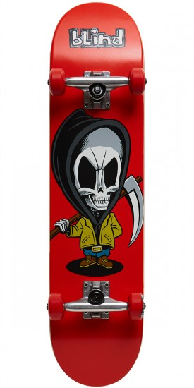 Blind Bone Thug Skateboard Complete with Soft Wheels - Red - 7.625