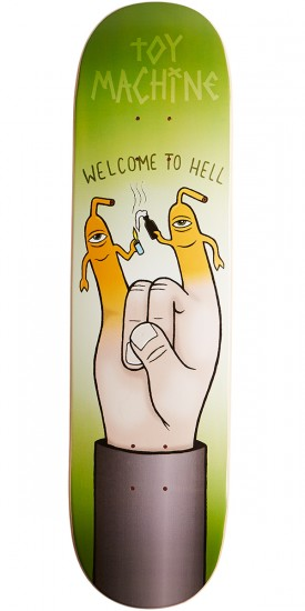 Toy Machine Welcome To Hell Skateboard Deck - 8.25""