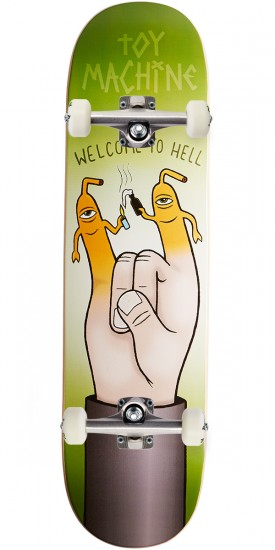 """Toy Machine Welcome To Hell Skateboard Complete - 8.25"""""""
