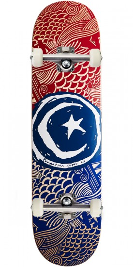 """Foundation Star and Moon Waves Skateboard Complete - 8.25"""""""