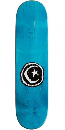 "Foundation Star and Moon Stickered Skateboard Complete - 8.375"" - Green"
