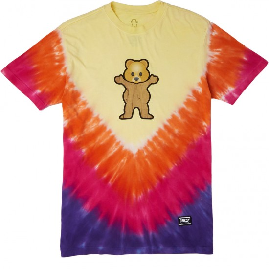 Grizzly Pudwill Pro Bear T-Shirt - Tie Dye