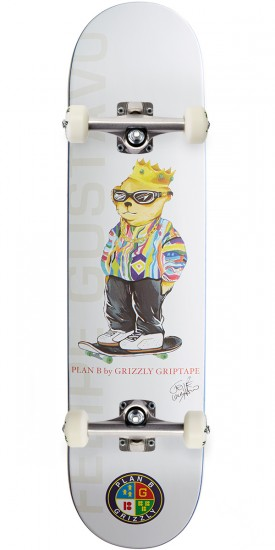 """Grizzly X Plan B Gustavo Skateboard Complete - 7.60"""""""