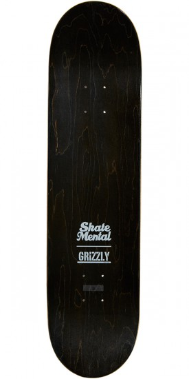 Grizzly X Skate Mental Abduction Skateboard Deck - 8.00""