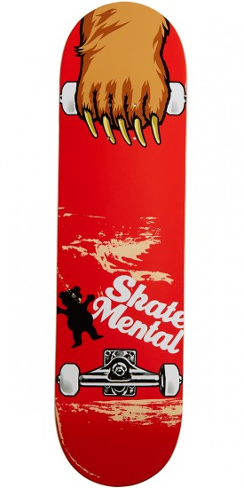 Grizzly X Skate Mental Maul Grab Skateboard Deck - 8.25""