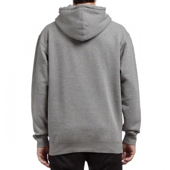 HUF Muted Military Box Logo Pullover Hoodie - Grey Heather